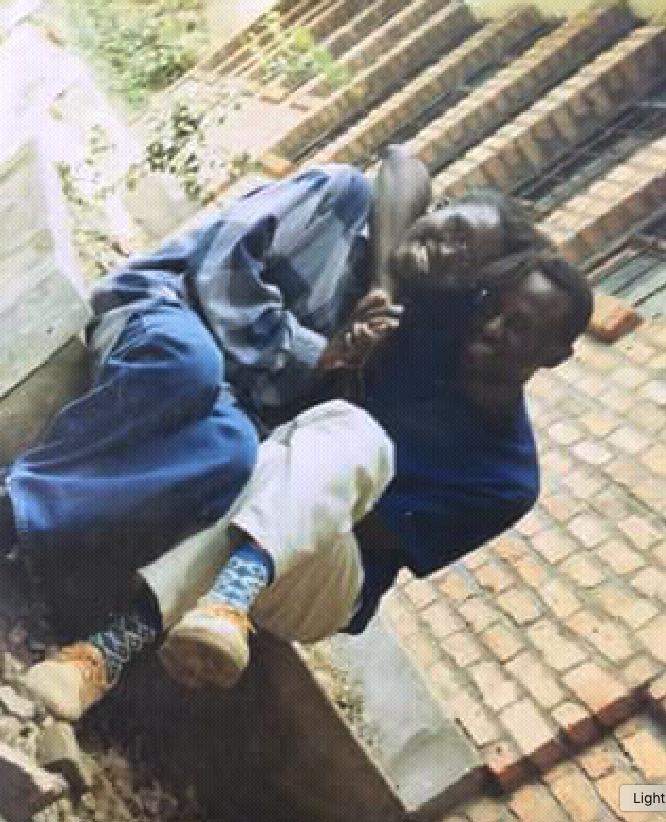 Aha nari kumwe na Liliane igihe nigaga muri ETO Kibuye mu 1995-1996